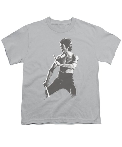 Bruce Lee - Chinese Characters Youth T-Shirt by Brand A