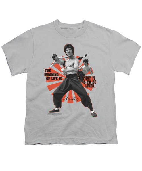 Bruce Lee - Meaning Of Life Youth T-Shirt