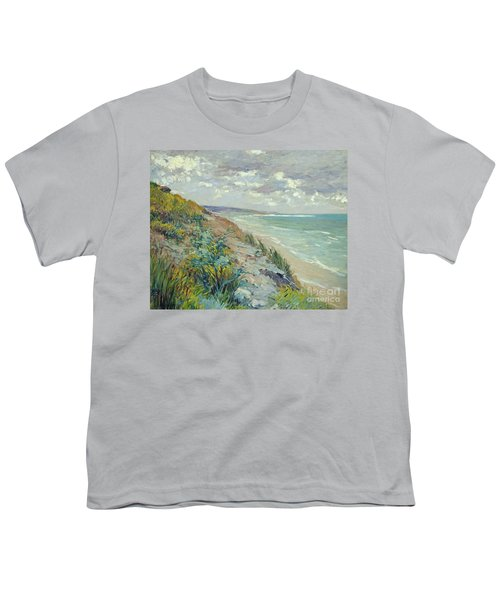 Cliffs By The Sea At Trouville  Youth T-Shirt