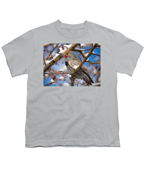 Flicker In Snow Youth T-Shirt