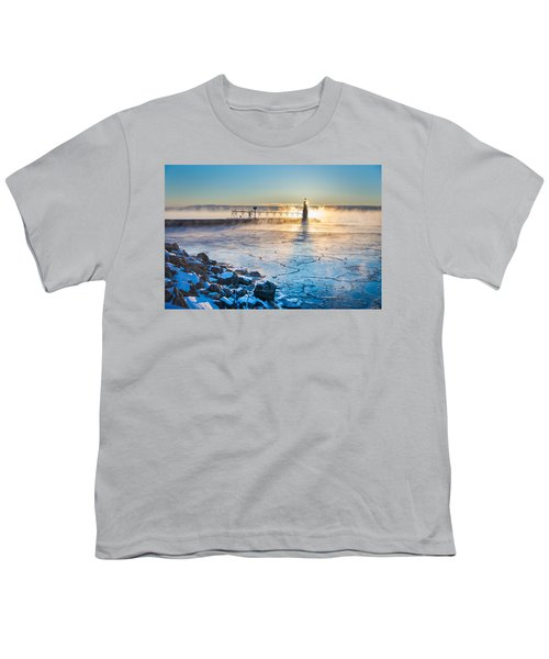 Icy Morning Mist Youth T-Shirt by Bill Pevlor