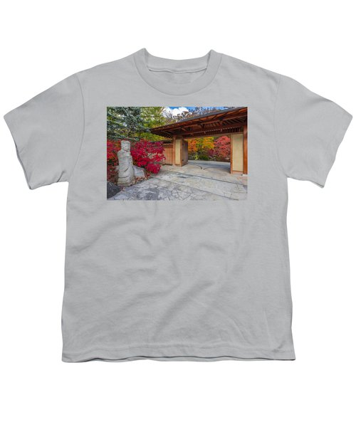 Youth T-Shirt featuring the photograph Japanese Main Gate by Sebastian Musial