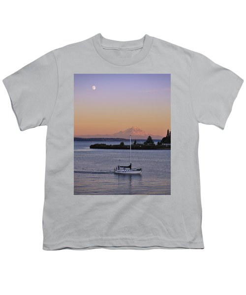 Mt. Rainier Afterglow Youth T-Shirt