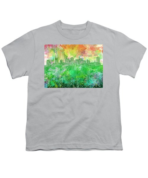 Nashville Skyline Watercolor 2 Youth T-Shirt