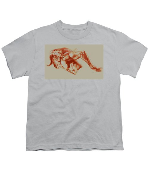 North American Minotaur Red Sketch Youth T-Shirt