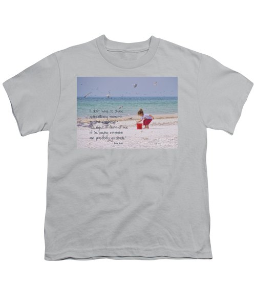 One Moment In Time Youth T-Shirt by Peggy Hughes