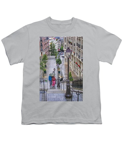 Paris Sous La Pluie Youth T-Shirt by Nikolyn McDonald