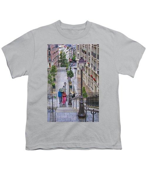Paris Sous La Pluie Youth T-Shirt