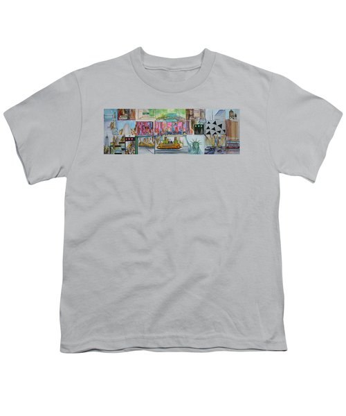 Postcards From New York City Youth T-Shirt by Jack Diamond