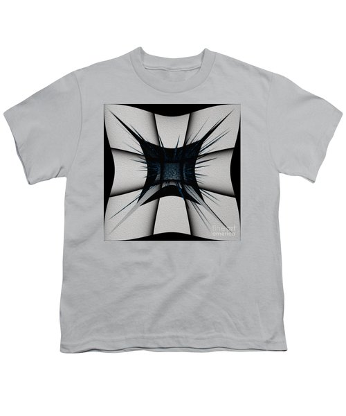 Youth T-Shirt featuring the digital art Silver Craft by Mihaela Stancu
