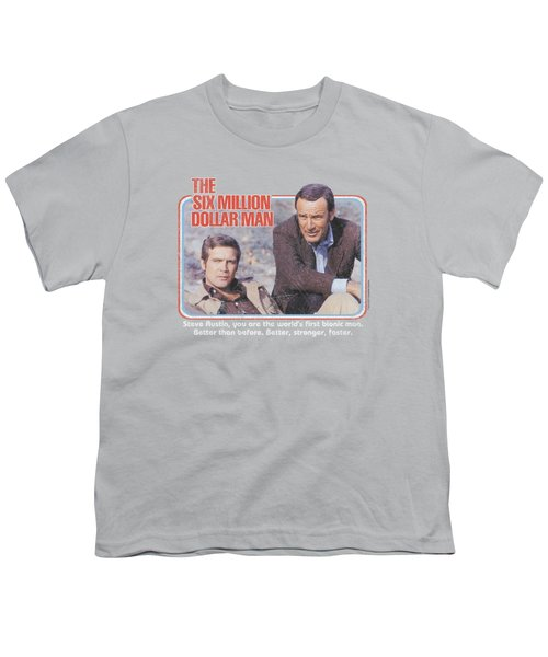 Six Million Dollar Man - The First Youth T-Shirt by Brand A