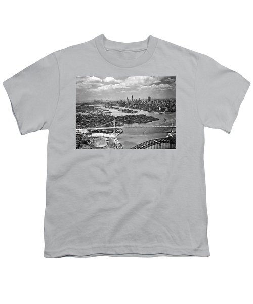 Triborough Bridge Is Completed Youth T-Shirt by Underwood Archives