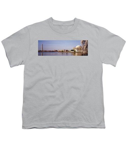 Usa, Washington Dc, Washington Monument Youth T-Shirt by Panoramic Images
