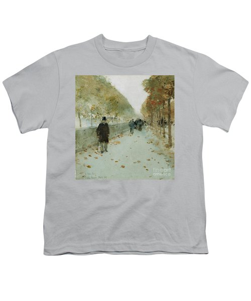Quai Du Louvre Youth T-Shirt by Childe Hassam