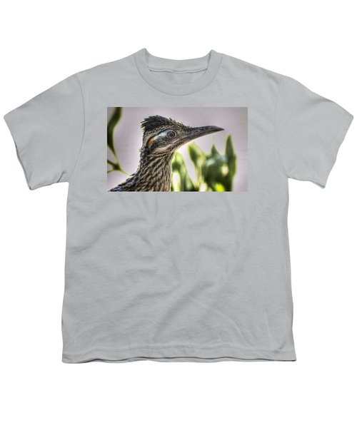 Roadrunner Portrait  Youth T-Shirt by Saija  Lehtonen