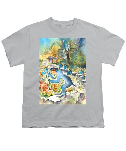 The Minotaur In Knossos Youth T-Shirt by Miki De Goodaboom