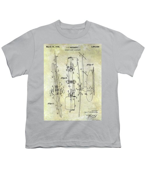 1935 Helicopter Patent  Youth T-Shirt