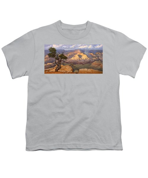Zoroaster Temple From Yaki Point Youth T-Shirt by Paul Krapf