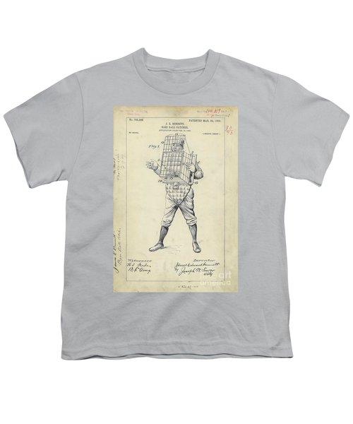 1904 Baseball Catcher Patent Youth T-Shirt