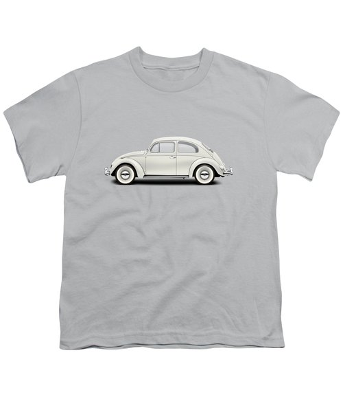 1961 Volkswagen Deluxe Sedan - Pearl White Youth T-Shirt by Ed Jackson
