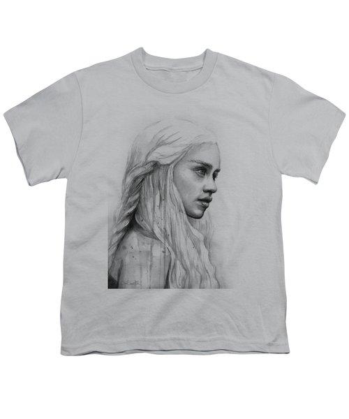 Daenerys Watercolor Portrait Youth T-Shirt