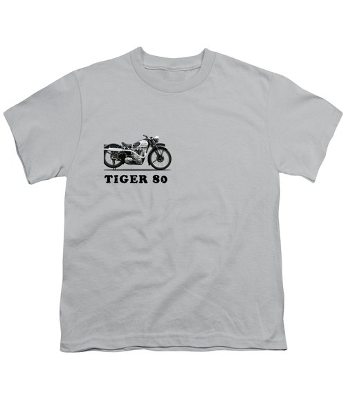 Triumph Tiger 80 1937 Youth T-Shirt by Mark Rogan