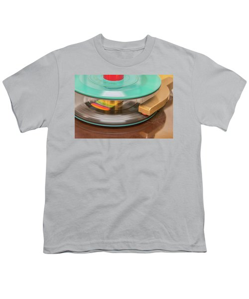 45 Rpm Record In Play Mode Youth T-Shirt
