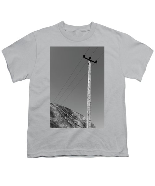 Youth T-Shirt featuring the photograph A Rock And A Pole, Hampi, 2017 by Hitendra SINKAR