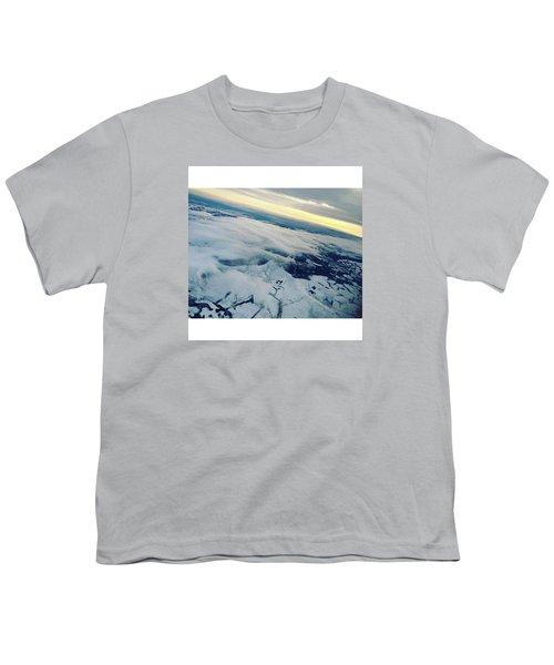 Edinburgh Winter Sunset Youth T-Shirt by Patsy Jawo