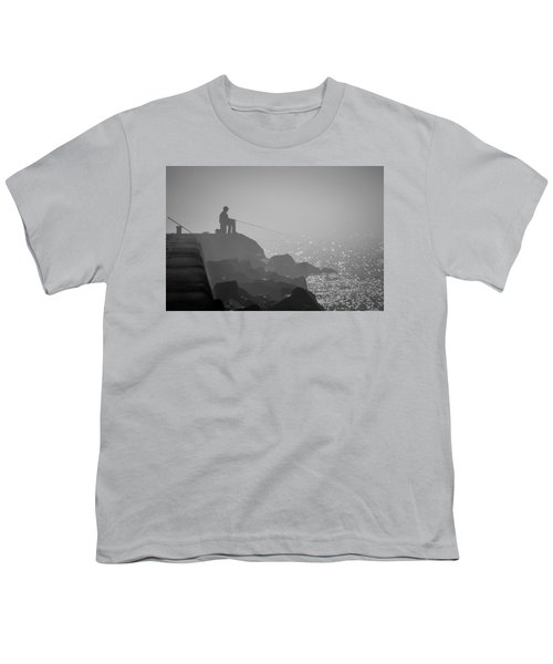 Angling In A Fog  Youth T-Shirt by Bill Pevlor