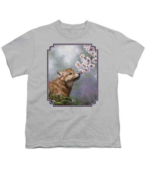 Wolf Pup - Baby Blossoms Youth T-Shirt