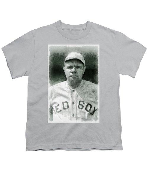 Babe Ruth, Baseball Player Youth T-Shirt