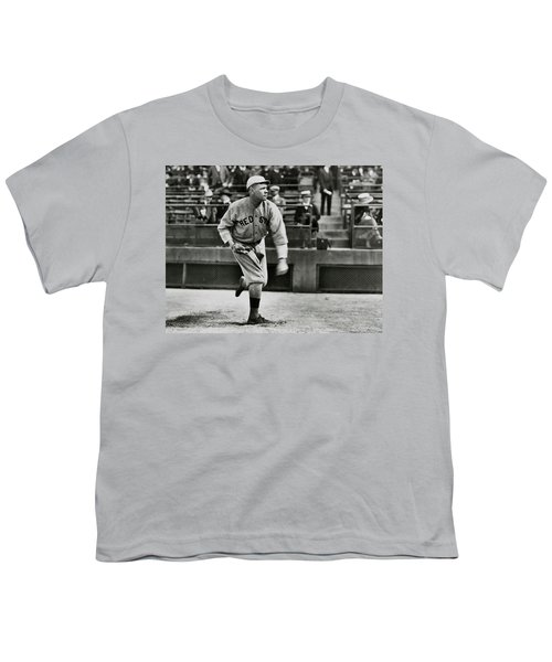 Babe Ruth - Pitcher Boston Red Sox  1915 Youth T-Shirt by Daniel Hagerman