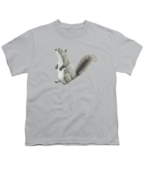 Baby Squirrel Youth T-Shirt by Dominic White