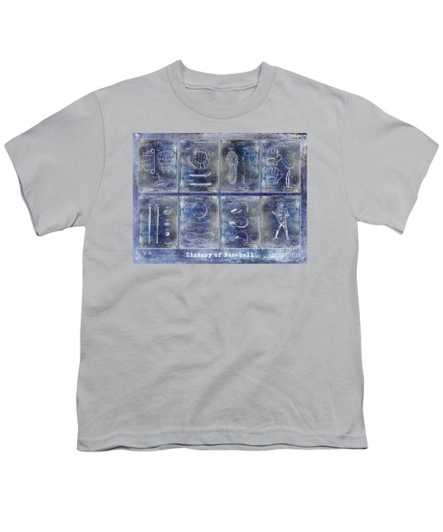 Baseball Patent History Blue Youth T-Shirt