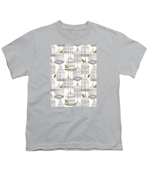 Birdcages Youth T-Shirt by Stephanie Davies