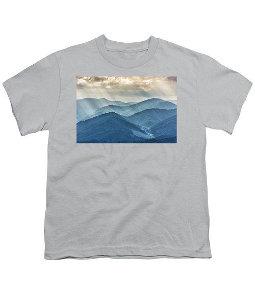 Blue Ridge Sunset Rays Youth T-Shirt