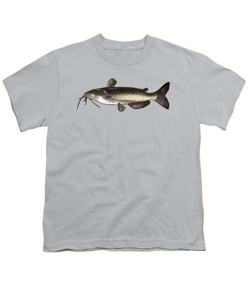 Catfish Drawing Youth T-Shirt by A C