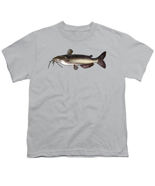 Catfish Drawing Youth T-Shirt