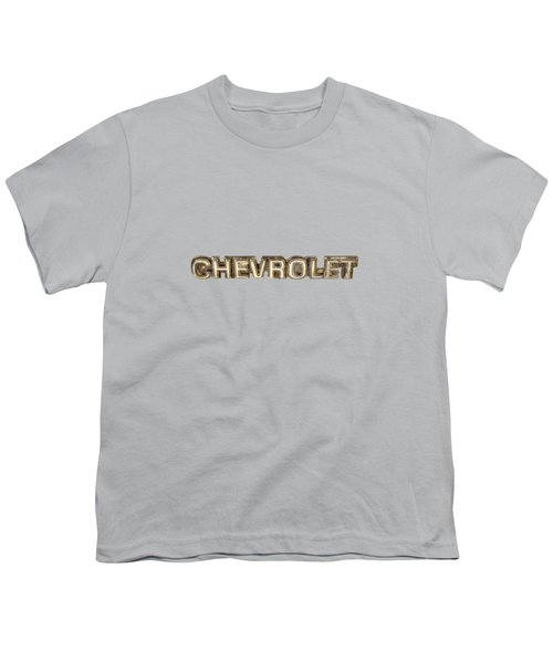 Chevrolet Chrome Emblem Youth T-Shirt