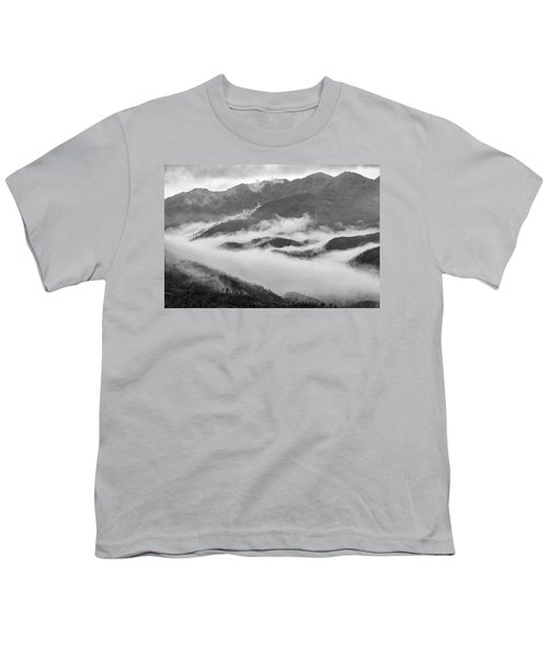 Youth T-Shirt featuring the photograph Clouds In Valley, Sa Pa, 2014 by Hitendra SINKAR