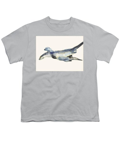 Courting Otters  Youth T-Shirt by Mark Adlington