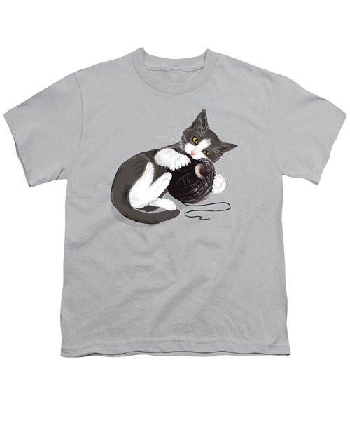 Death Star Kitty Youth T-Shirt by Olga Shvartsur