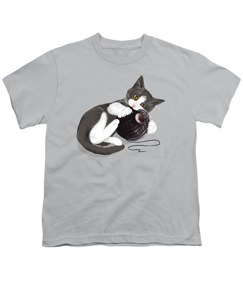 Death Star Kitty Youth T-Shirt