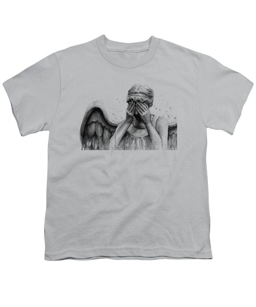 Doctor Who Weeping Angel Don't Blink Youth T-Shirt by Olga Shvartsur