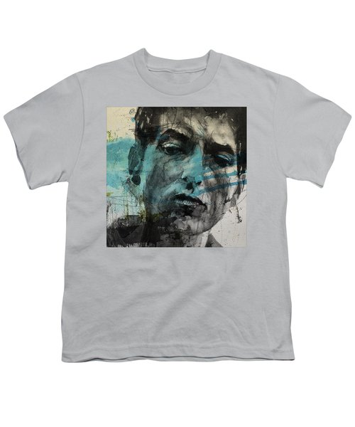 Dylan - Retro  Maggies Farm No More Youth T-Shirt by Paul Lovering