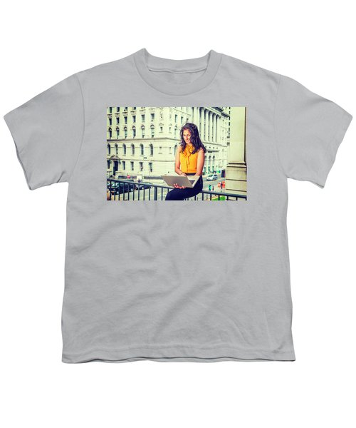 East Indian American Businesswoman In New York Youth T-Shirt