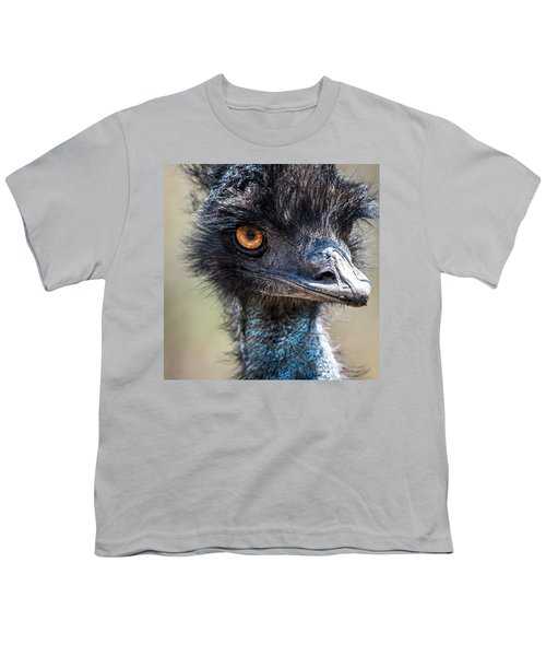 Emu Eyes Youth T-Shirt by Paul Freidlund