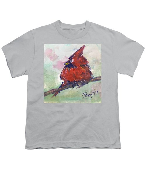 Fluffy Cardinal Chick Youth T-Shirt