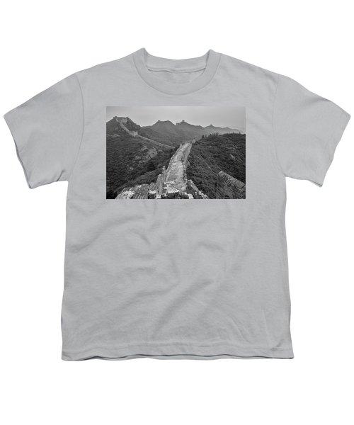 Youth T-Shirt featuring the photograph Great Wall 6, Jinshanling, 2016 by Hitendra SINKAR